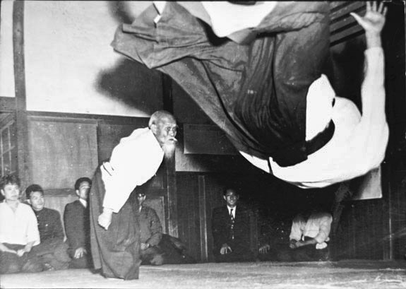 Morihei Ueshiba Throwing Tada